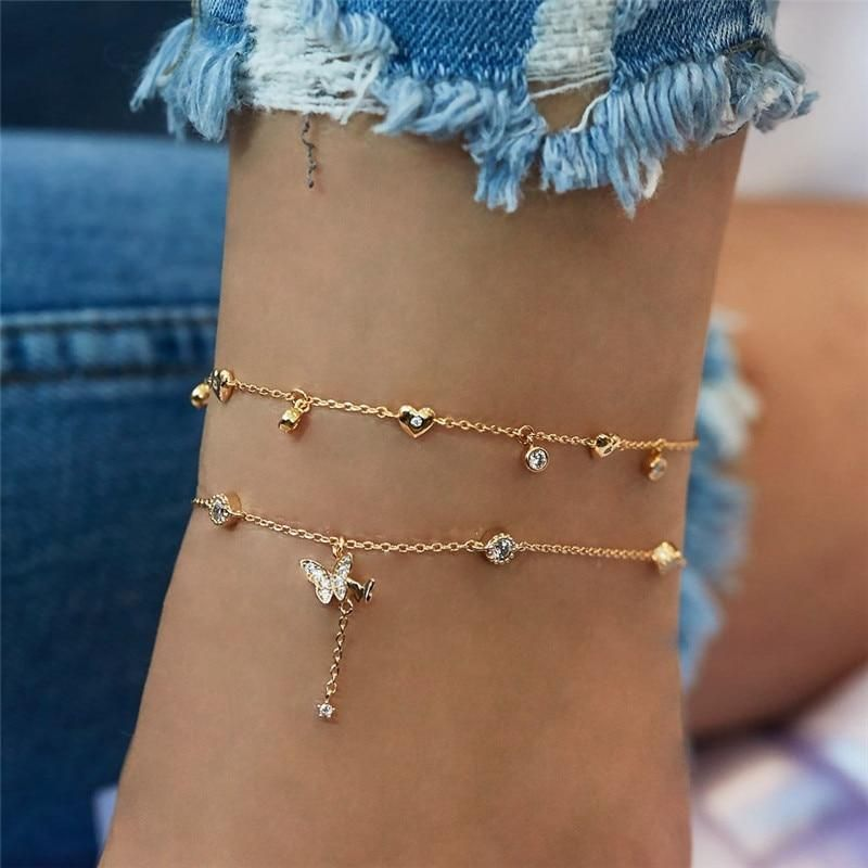 Butterfly Anklet Set