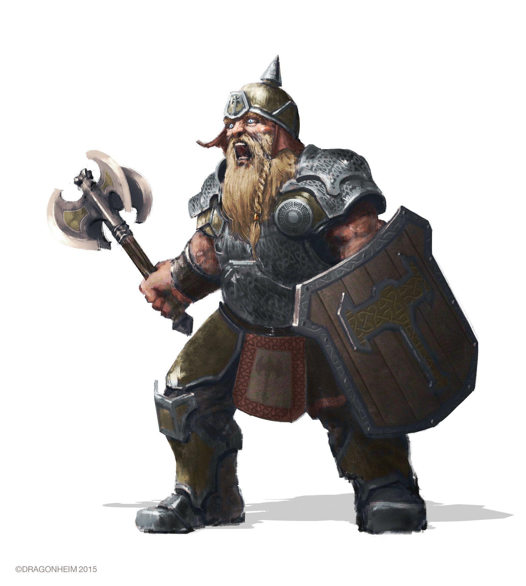 ArtStation - Dwarf Warrior for Dragonheim RPG, Felix Ortiz