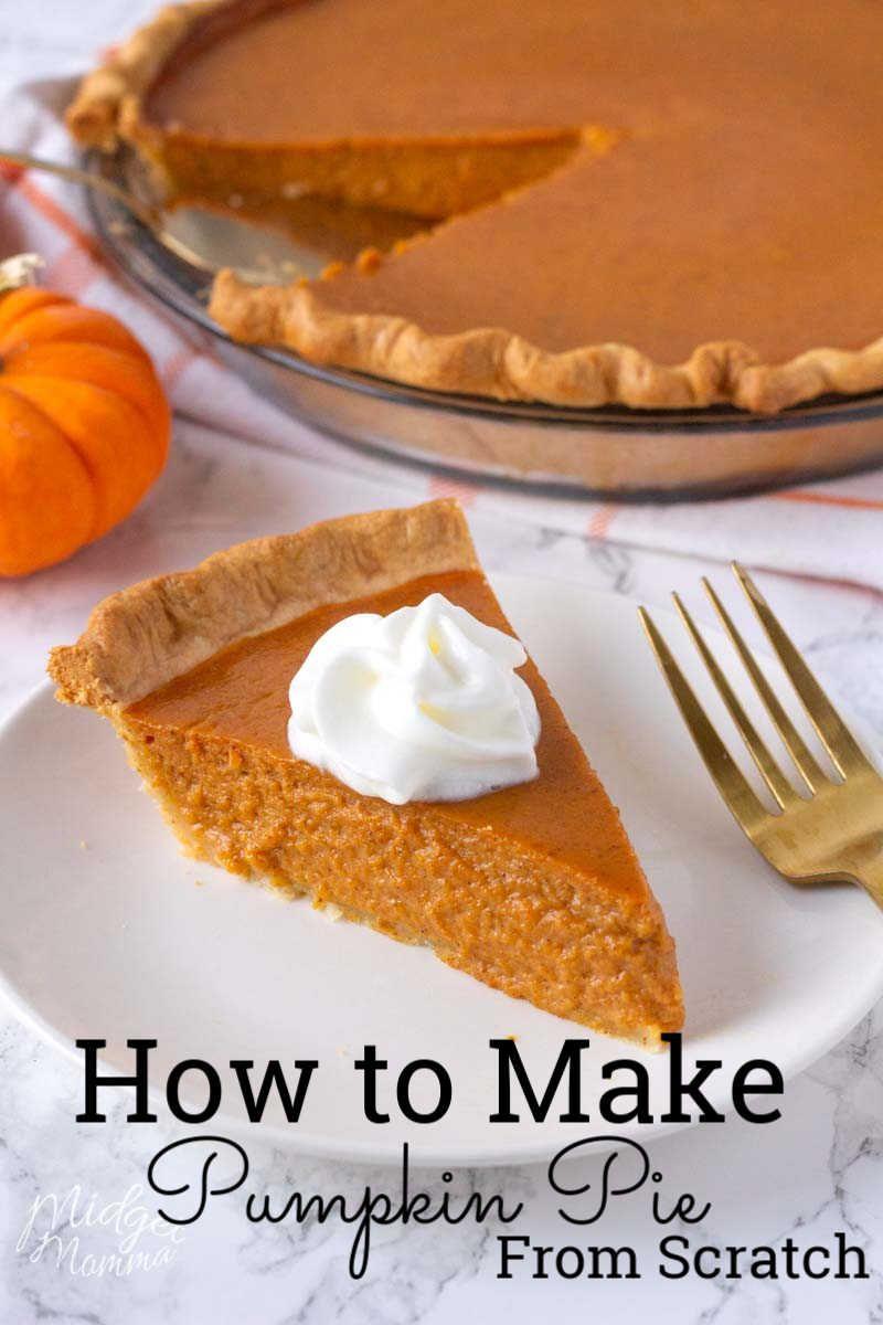 The BEST Homemade Pumpkin Pie! Make Pumpkin Pie from Scratch!