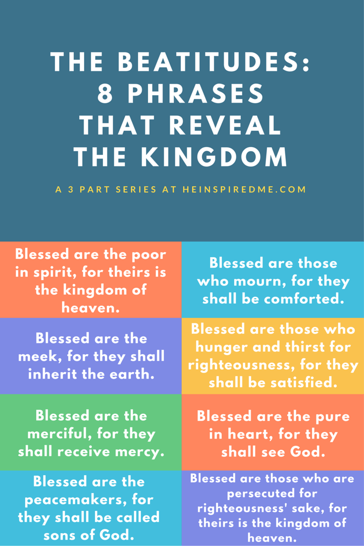 the beatitudes 8 phrases that reveal the kingdom