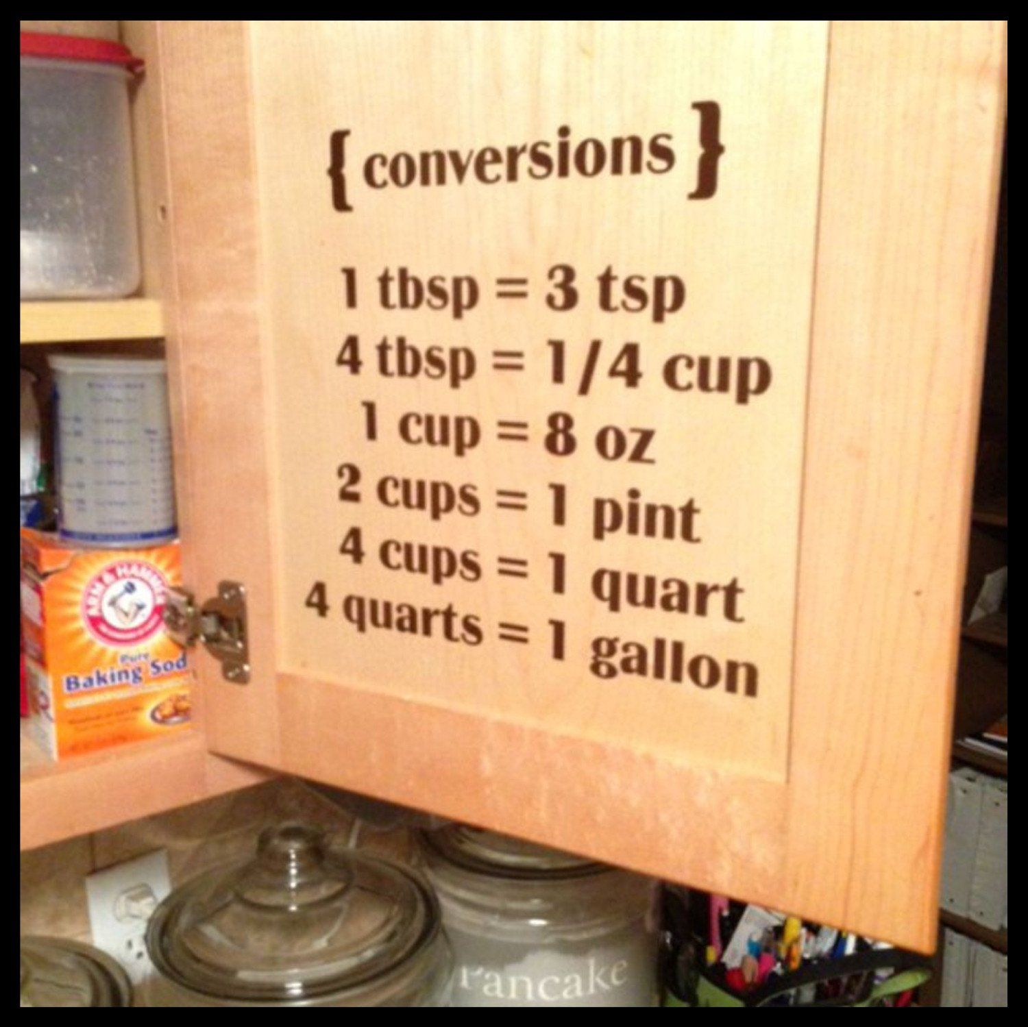 Kitchen Conversions Vinyl Wall Decal