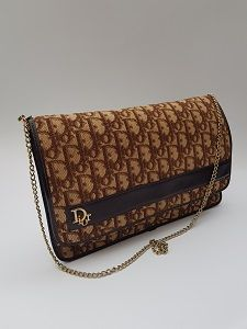 c8e3c7aa93 DIOR Bag. Christian Dior Oblique Vintage Brown Monogram Shoulder Bag /  Clutch. French designer purse.