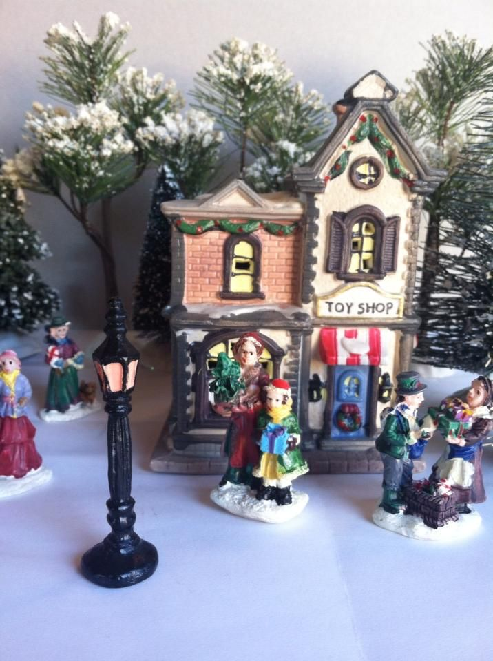 cobblestone corners toy shop toys shop christmas villages christmas decorations xmas decorations