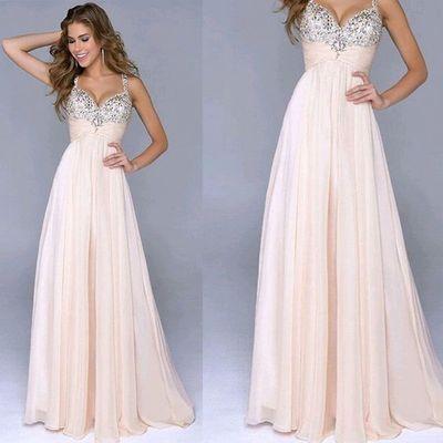 2017 Custom Made Charming Chiffon Prom Dress,Spaghetti Straps Prom ...