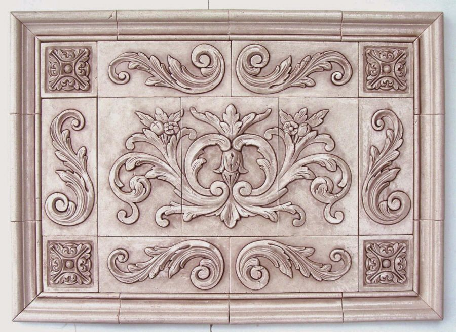 Decorative Tile Inserts Stunning Floral Tile With Single Scrolls For Decorative Inserts Design Ideas