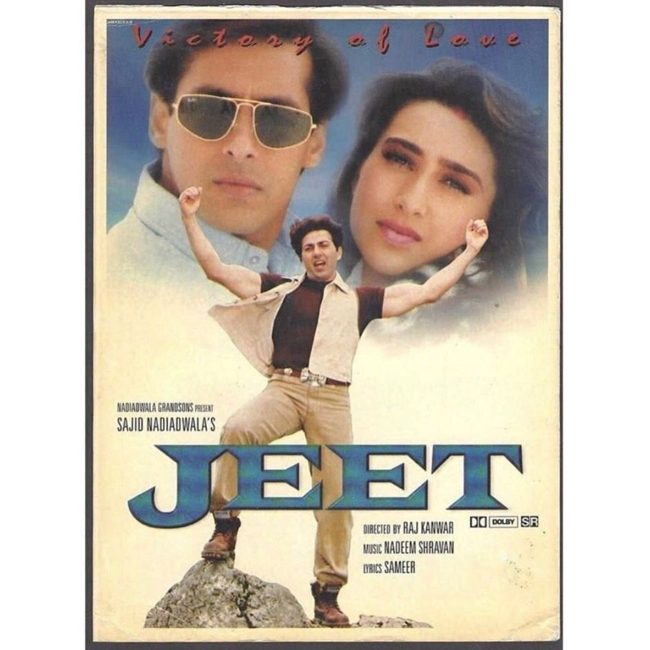 Nostalgia 21 Years Of Jeet Bollywood Movie Songs Bollywood Posters Bollywood Songs