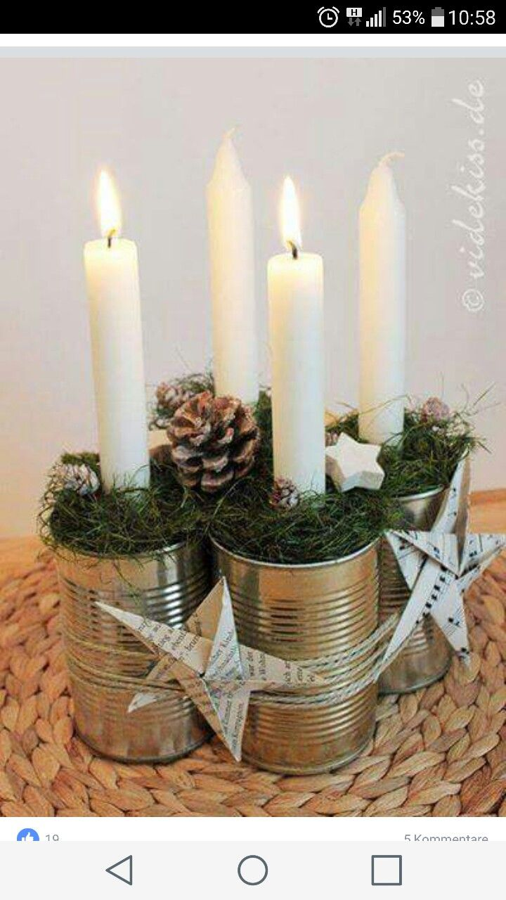 Centro Tavola Con Candele Diy And Crafts Pinterest