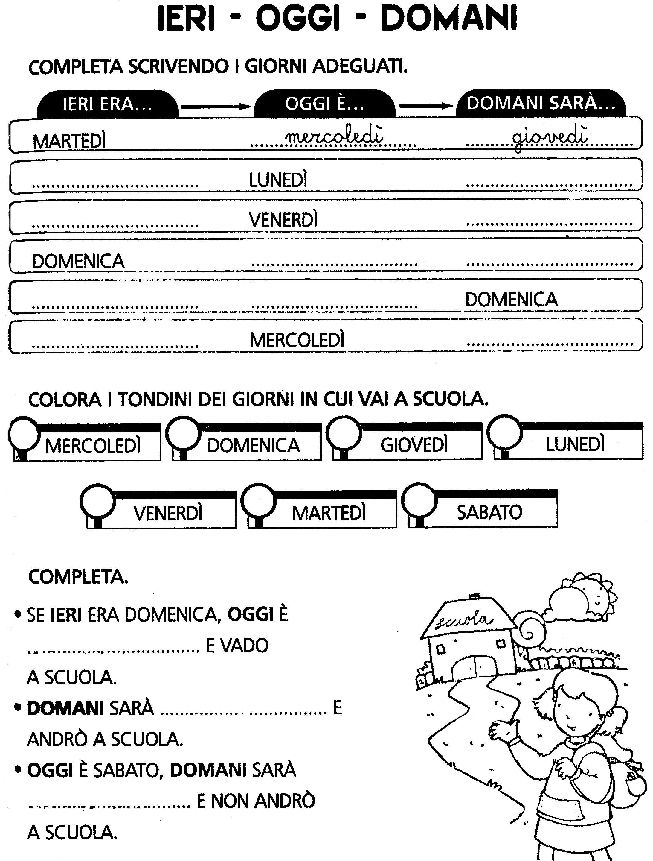Orologio Classe Seconda Primaria History Oras E Math