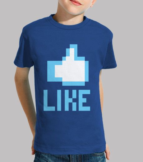Camiseta niños manga corta, Dame un Like, en 9 colores disponible por solo 18,90€