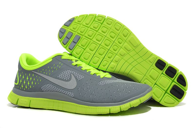 Fake Mens Nike Free 4.0 V2 Stealth Reflective Silver Volt Shoes ONLY $44.28  Save: 58