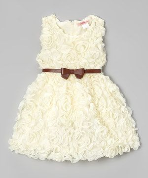 007e7abc0986 Another great find on  zulily! Paulinie Ivory Rosette Dress ...