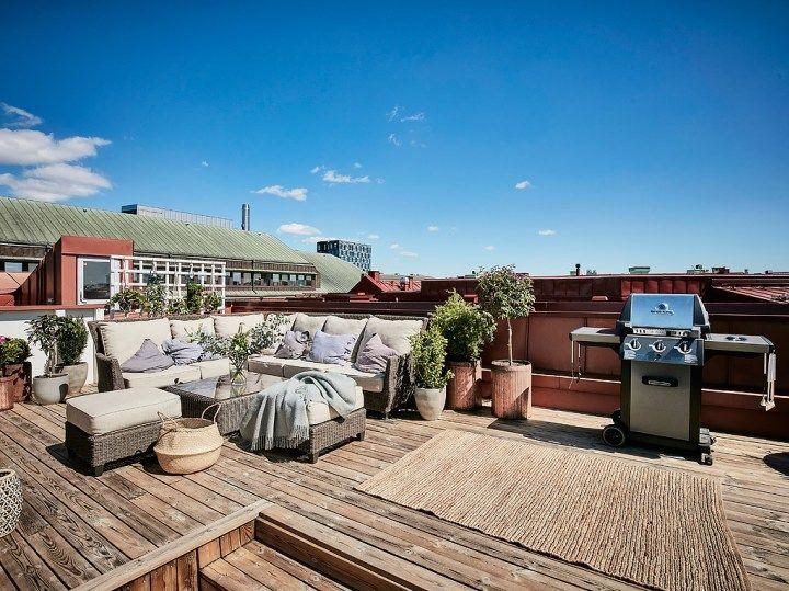 Terraza de madera en el tejado Interiors - terrazas en madera