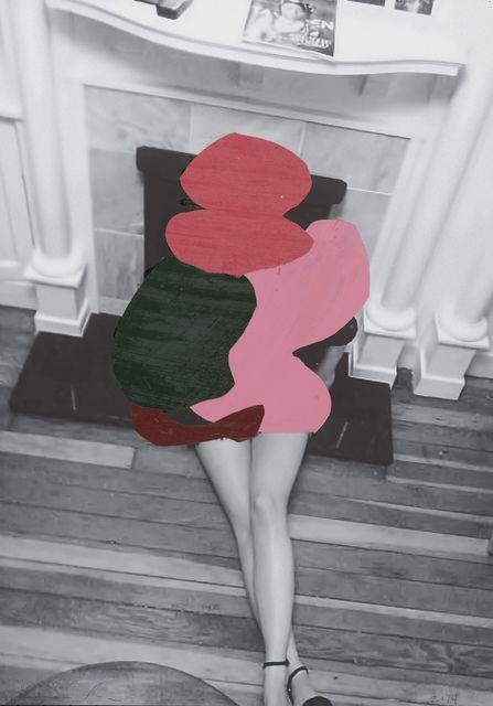 ENOC PEREZ Untitled, 2014  unique collage 27 × 21 in 68.6 × 53.3 cm
