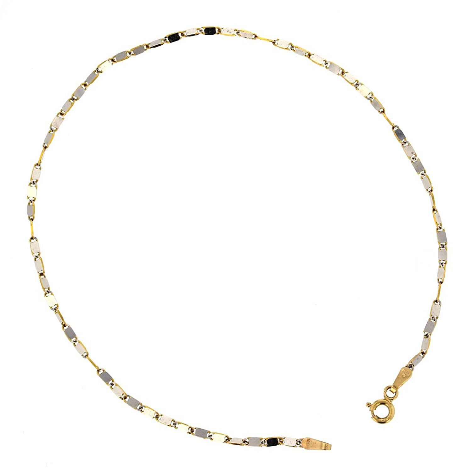 and white yellow anklet chain borsheims bracelet gold ankle