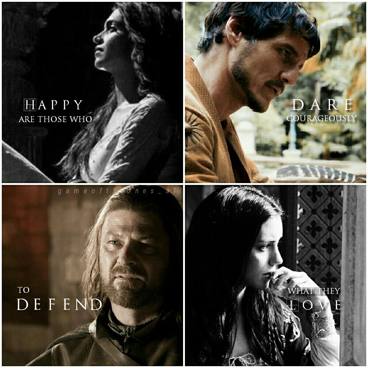 Follow gameofthrones_all IG game of thrones, game of thrones edits ,Oberyn Martell, ellia martell, ned stark, lyanna star, house martell, house stark.deepika padukon, a song of ice and fire, edit