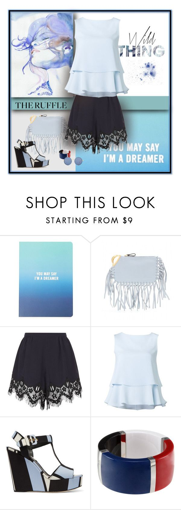 """Bluesy Lady"" by michelletheaflack ❤ liked on Polyvore featuring Forever 21, Valentino, Chloé, Barneys New York, CO, Dolce&Gabbana, Linda Farrow, ruffles and polyvorecontests"
