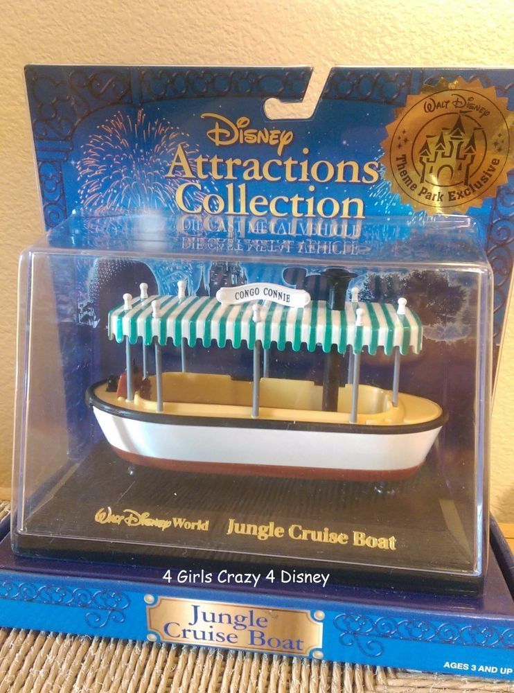 Disneyland Die Cast Toy Collectible Jungle Cruise Boat Mint In Box