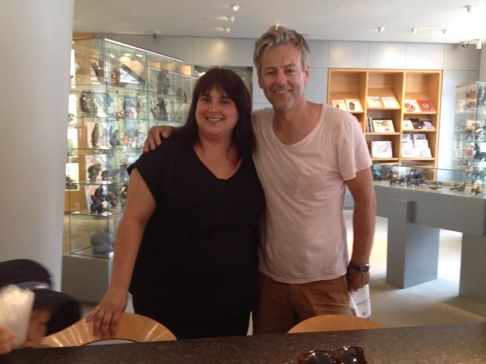 """greedylychee: """" I met Rupert Graves (Lestrade in Sherlock) this summer, he was on vacation in Quebec city and came to visit the art gallery I work at. I look like shit on that picture but oh well. I...>>>Lucky Lady!!"""