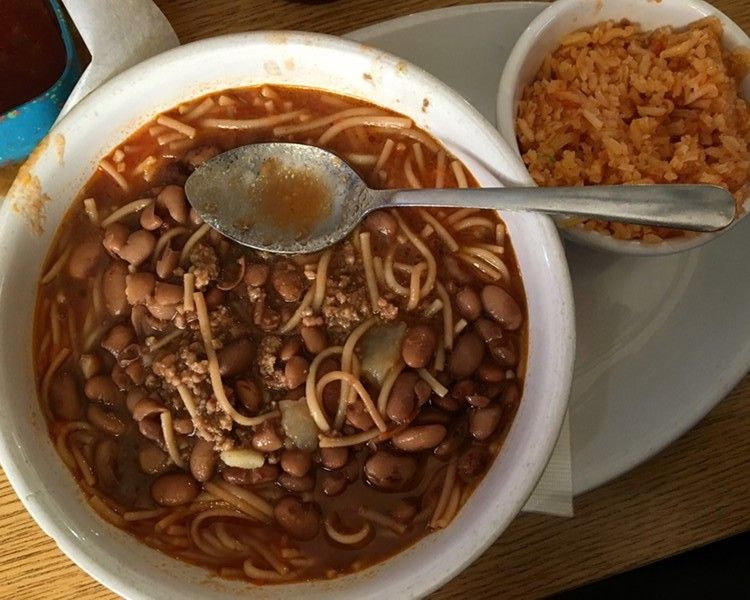 A Bowl Of Fideo Loco From Pete S Tako House Available Daily Jessica Elizarraras Food Mexican Food Recipes Fideo Loco Recipe