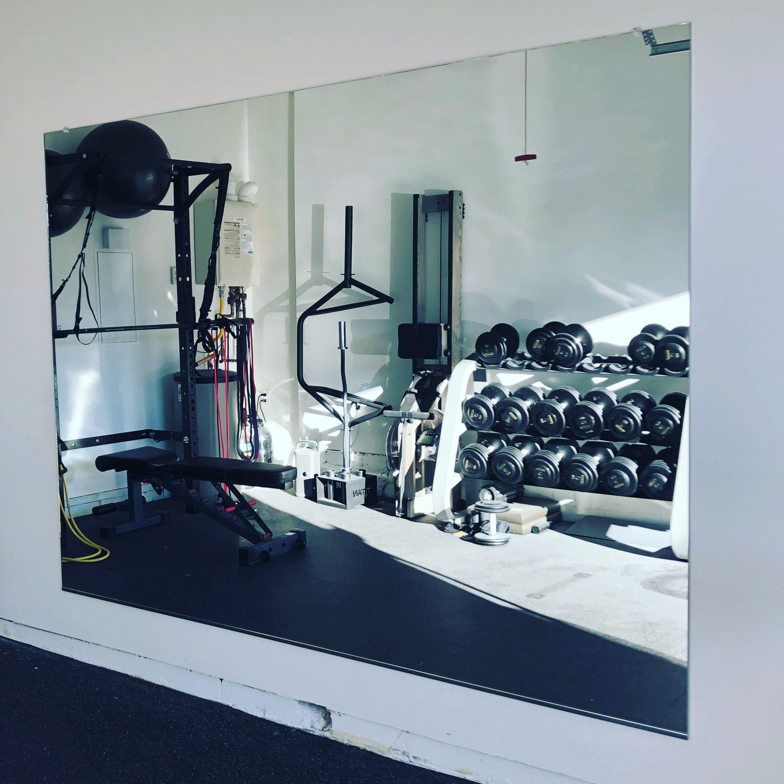Garage gym mirror by affordable mirrors gym mirrors