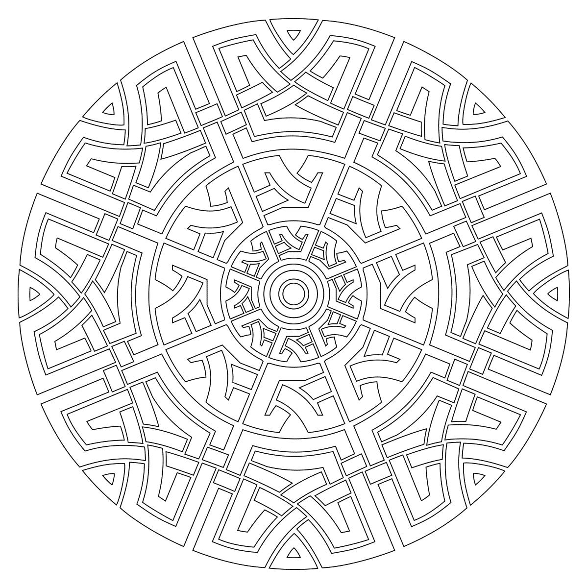 Celtic Mandala Coloring Page | Mandala coloring pages ...