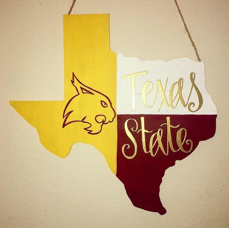 Texas State University Wall decoration   TXST Wooden Bobcat Art ...