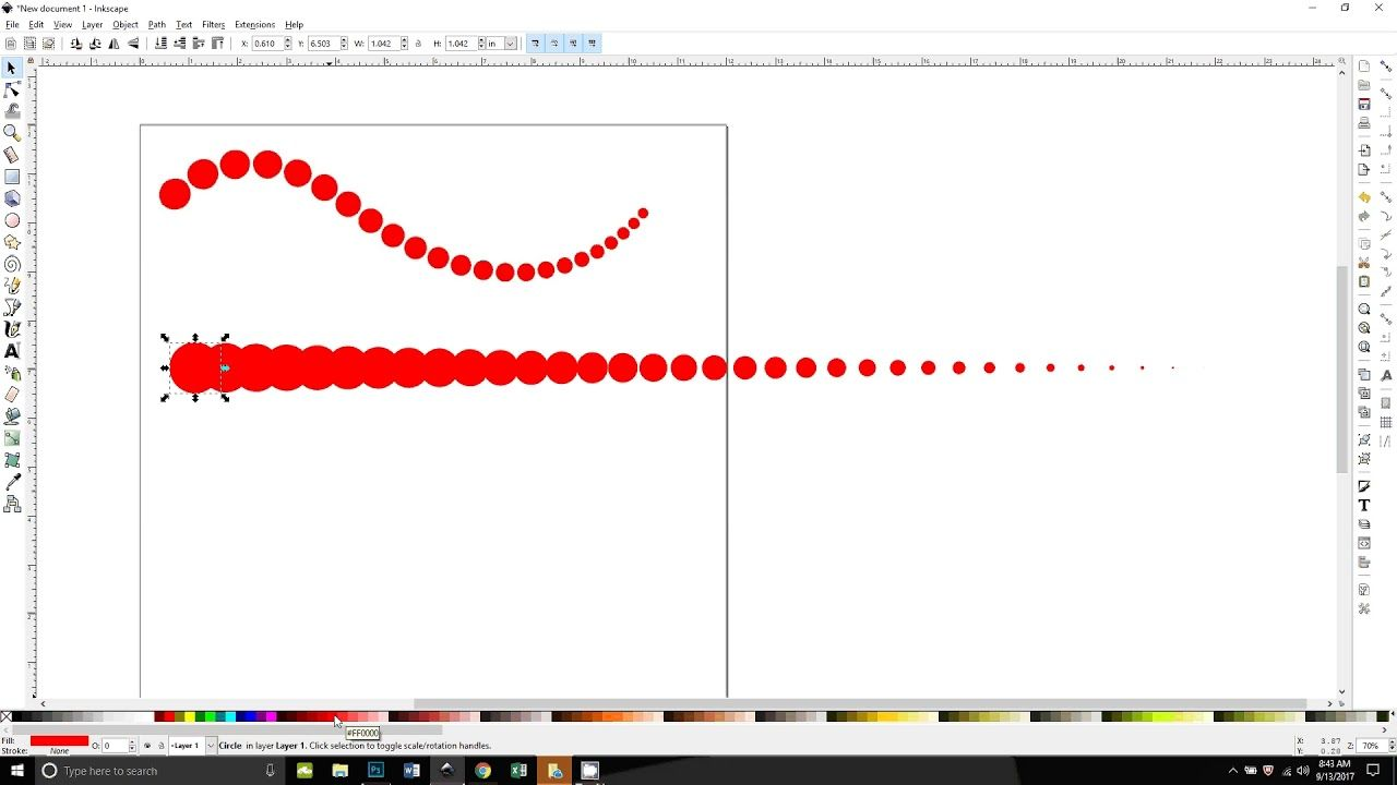 Decreasing Circles Along A Path In Inkscape Great Technique To Make Swirls With Circles Easy And Clear Video Tutorial Inksc Web Design Tutorial Design Help