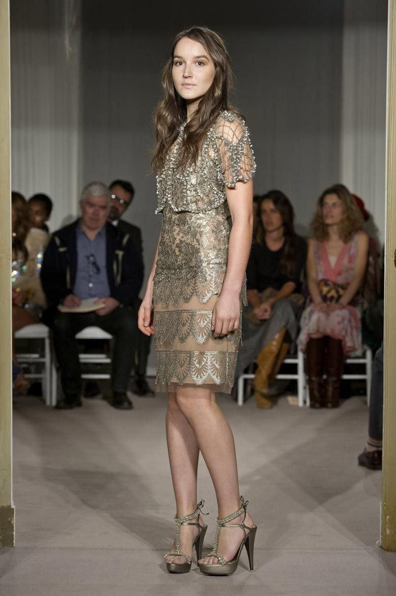 ALBERTA FERRETTI: LIMITED EDITION COLLECTION 2012 ~ crocheted embellished capelet