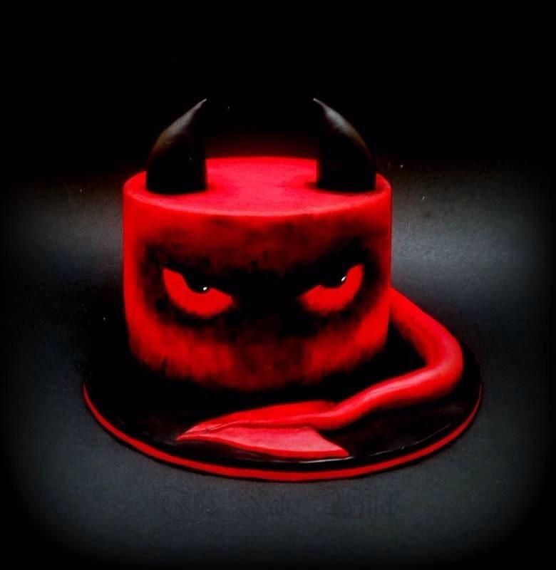 Red Devil - Cake by Nessie - The Cake Witch