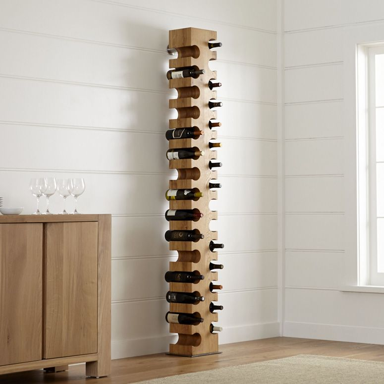 Big Sur Natural 30 Bottle Standing Wine Rack Standing Wine Rack Wine Rack Wood Wine Racks