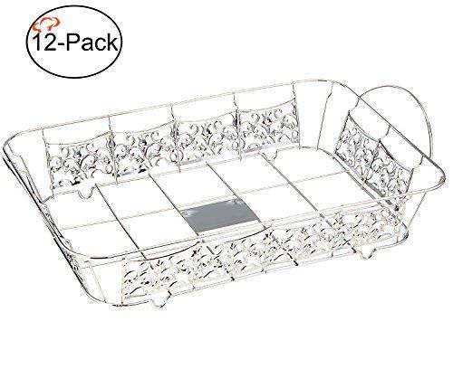 Tiger Chef 12-Pack Chrome Full Size Decorative Ornate Wire