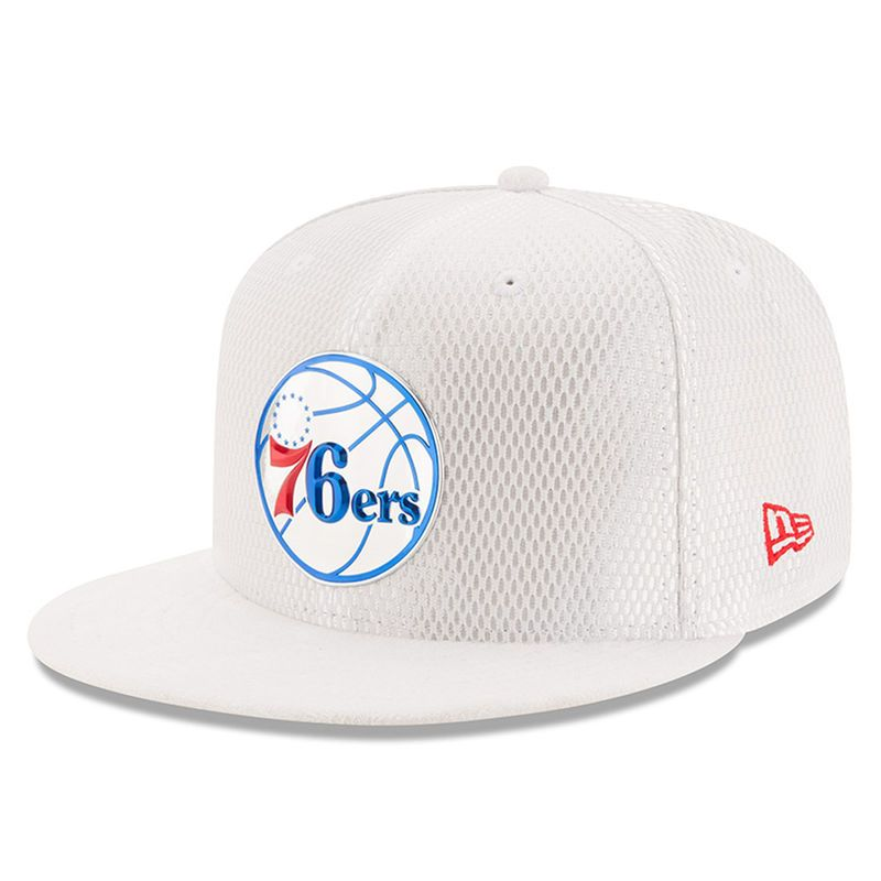 Philadelphia 76ers New Era 2017 NBA Draft Official On Court Collection 59FIFTY  Fitted Hat - White b0d7816f233f