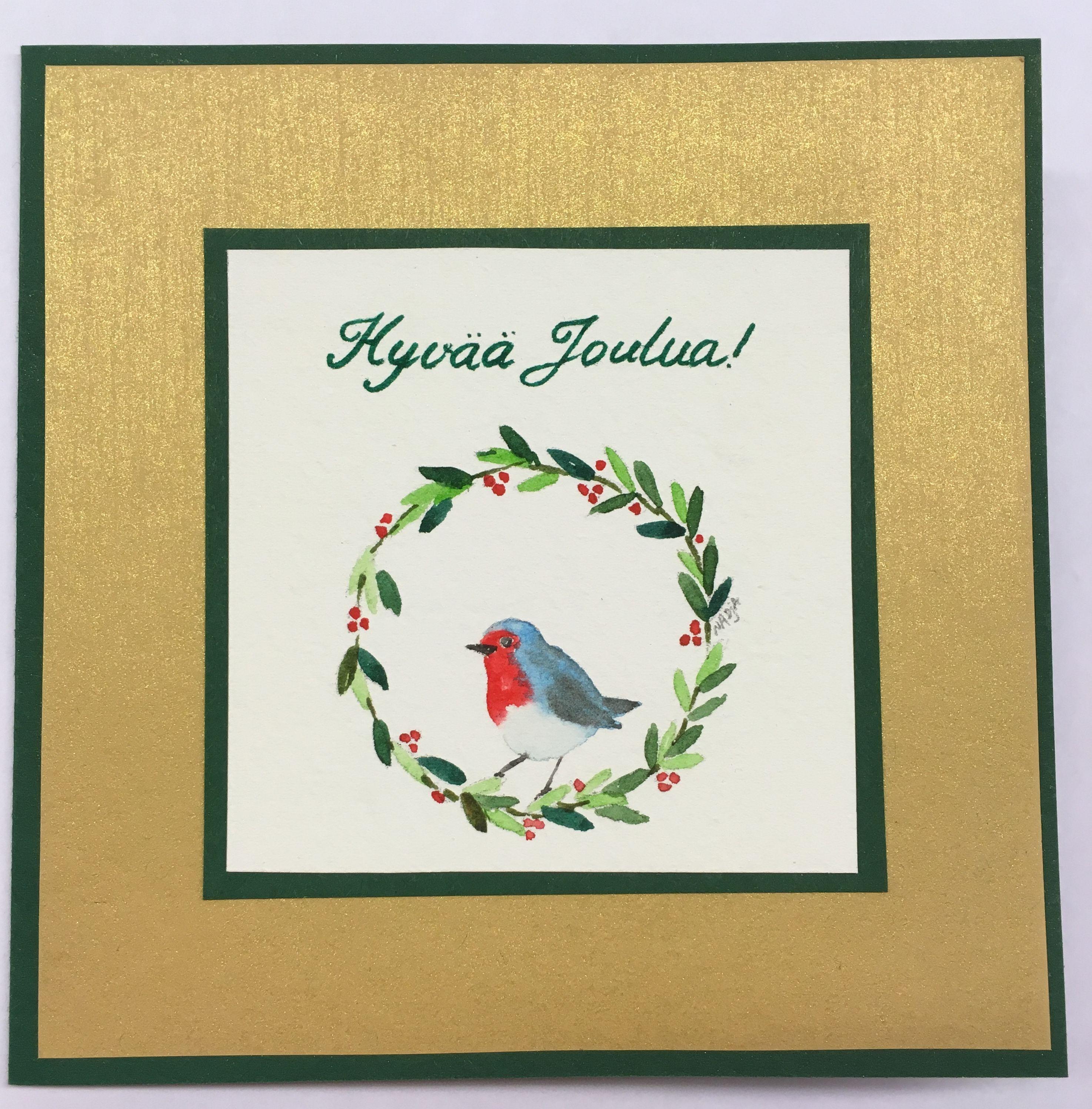 Christmas cards with birds. Orders are welcome. www.nadjasart.com ...
