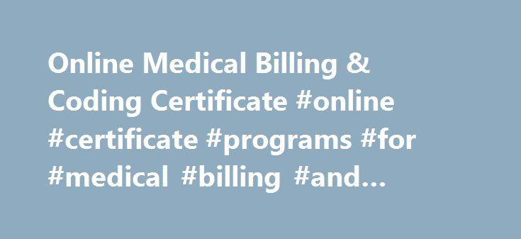 Online Medical Billing & Coding Certificate #online #certificate ...