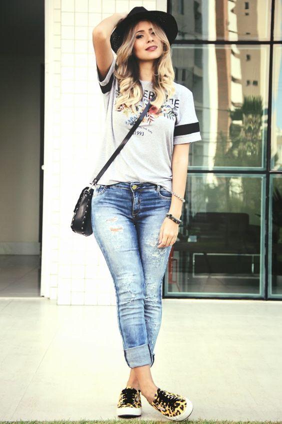 274feaedd MODA - MULHERES DE CALÇA JEANS | Moda | Looks femininos, Moda e ...