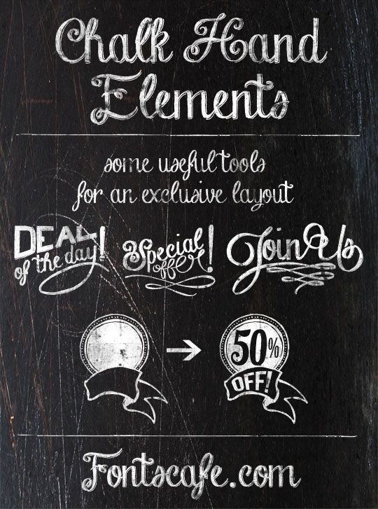 "A real Chalk effect for your ""Chalkboard layout""!"