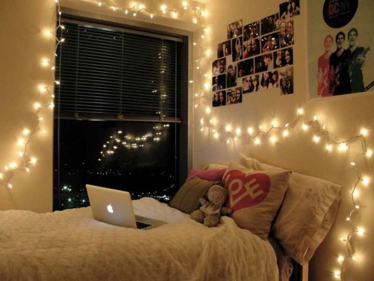 Decorating With Light 20 Pretty Ways Use String Lights Apartment