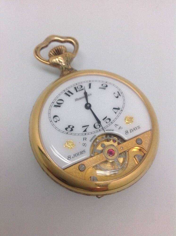 cde25a09 Wonderful Gents Hebdomas Swiss Made 8 Day Pocket Watch - Working Роскошные  Часы, Карманные Часы
