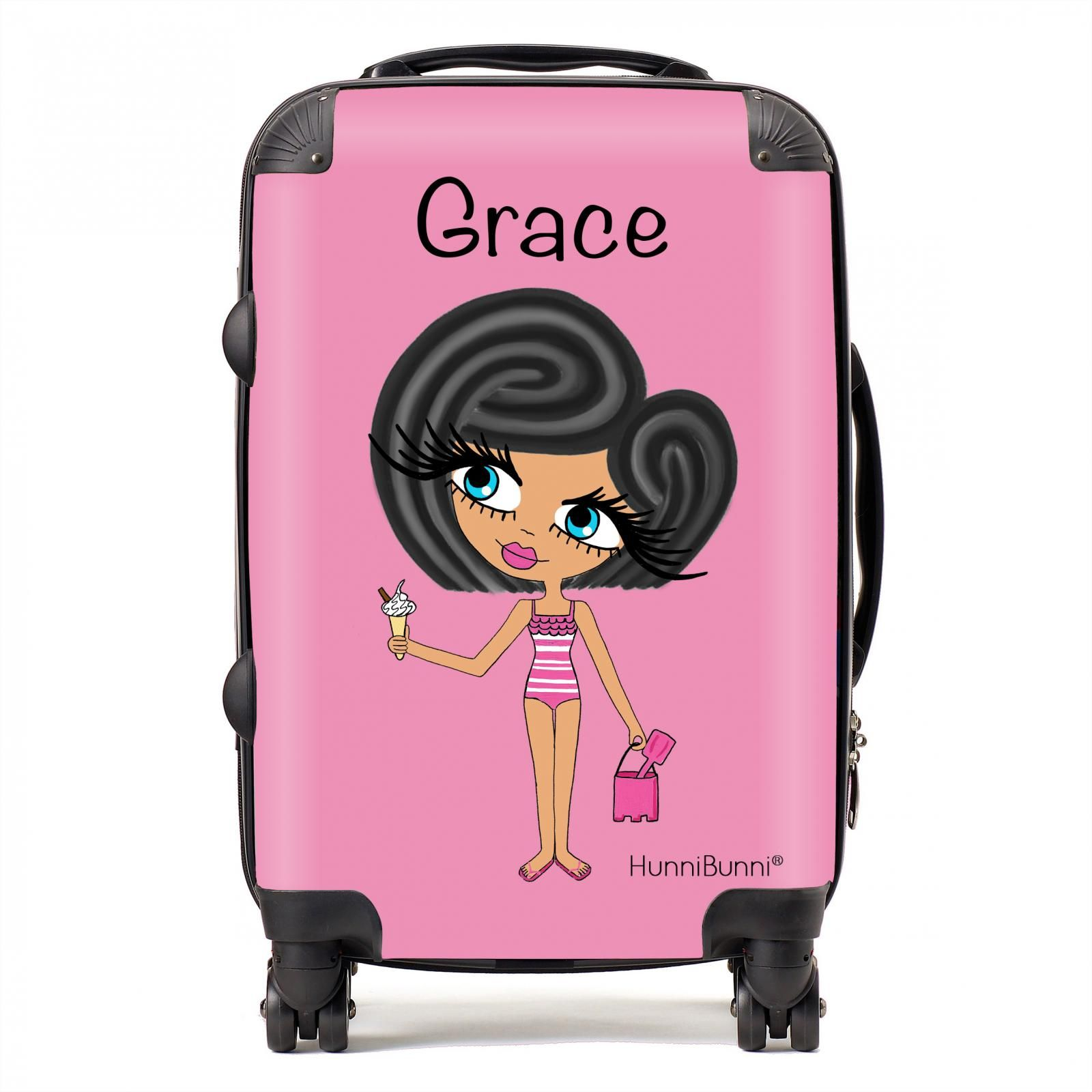 HunniBunni Little Miss Baby Pink Personalised Suitcase | Bags ...