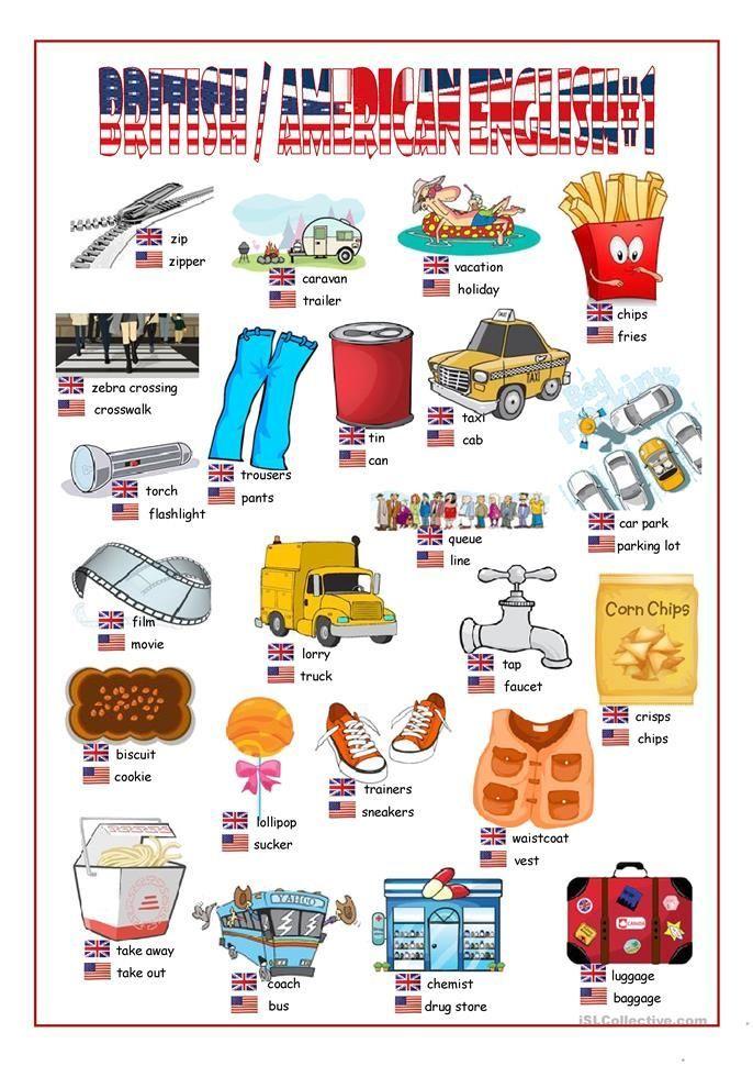British/American English Picture Dictionary#1   British ...