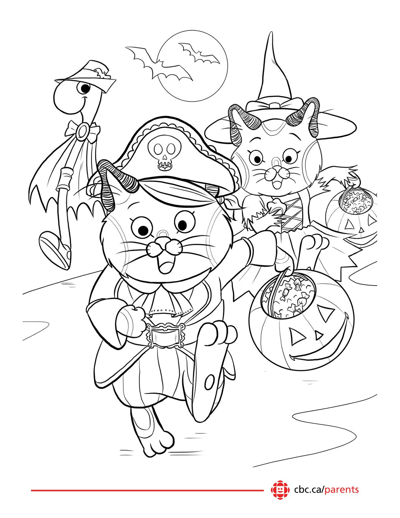 Printable coloring pages daniel tiger - Printable Halloween Colouring Pages