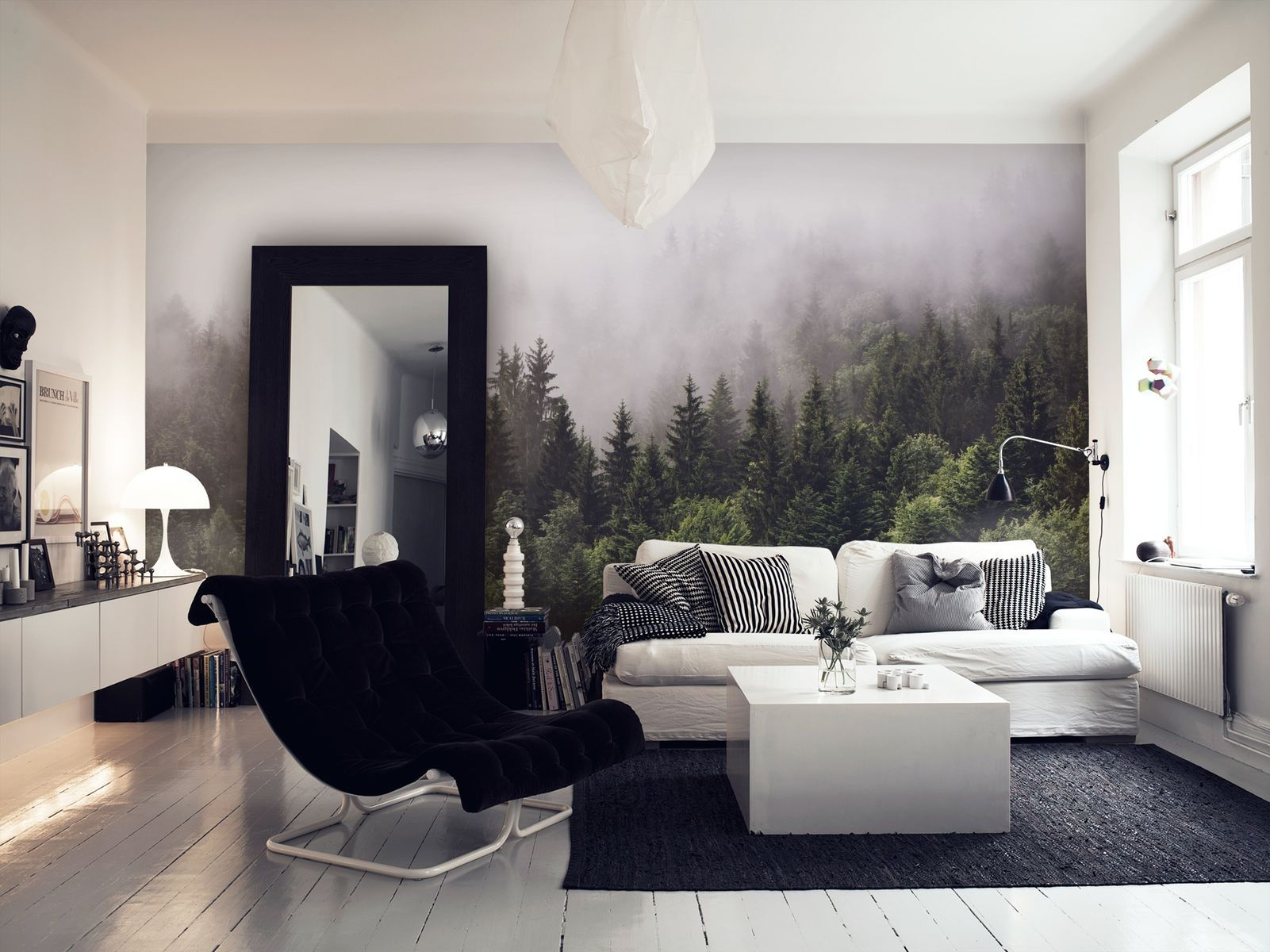 Design Your Own Living Room Online Brilliant Cloudy Forest Wall Mural  Wallpaper Paste Wall Murals And Design Inspiration
