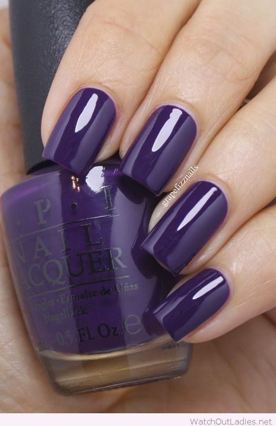 Dark purple OPI nail polish www.ScarlettAvery.com   Cute nail ...
