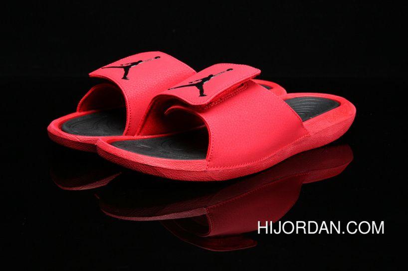 54cb490ff Air Jordan Hydro 6 Sandals 881473-600 881474-6017 Red Best ...