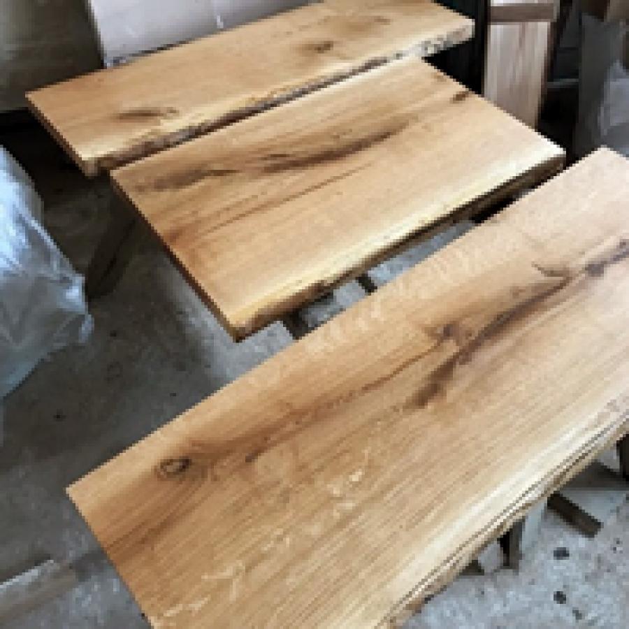 Baumscheibe Waschtisch Tischplatte Unbesaumt Gerade Eiche Baumkante 100x30x4 5cm Geolt Waschtisch Waschtisch Holzplatte Waschtisch Holz
