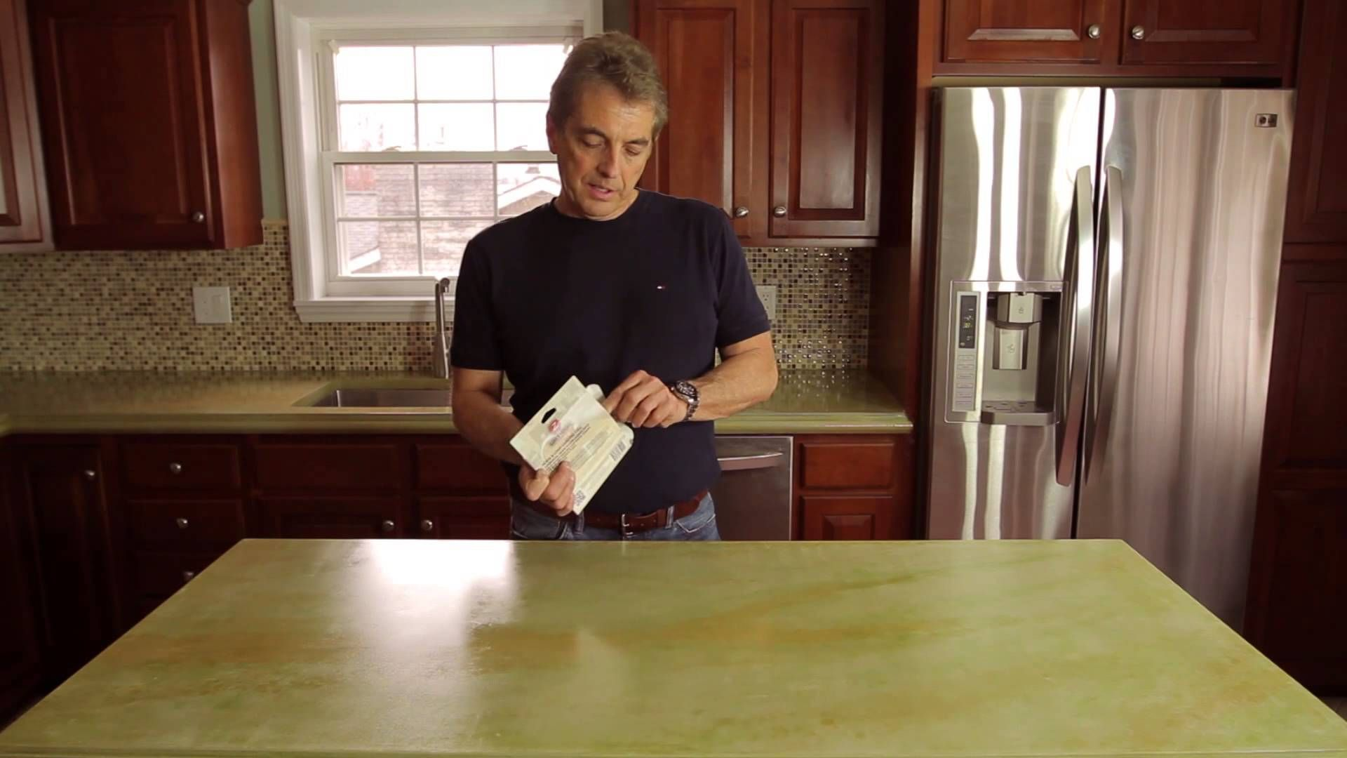 How To Seal Concrete Countertops With Z Aqua Poxy Sealing