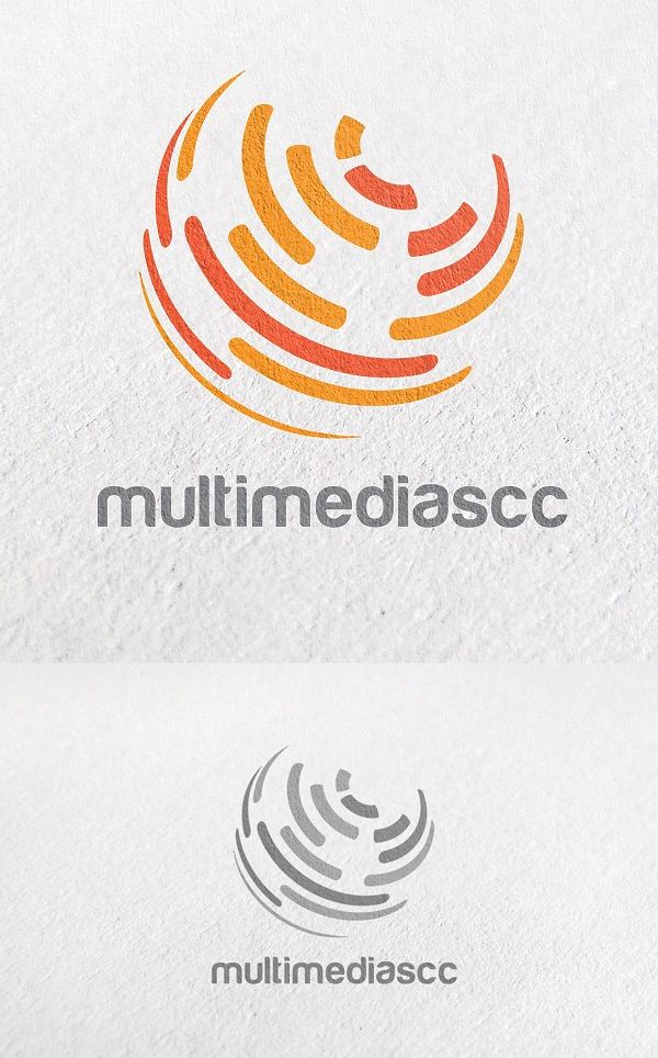 global unique circle technology logo template branding