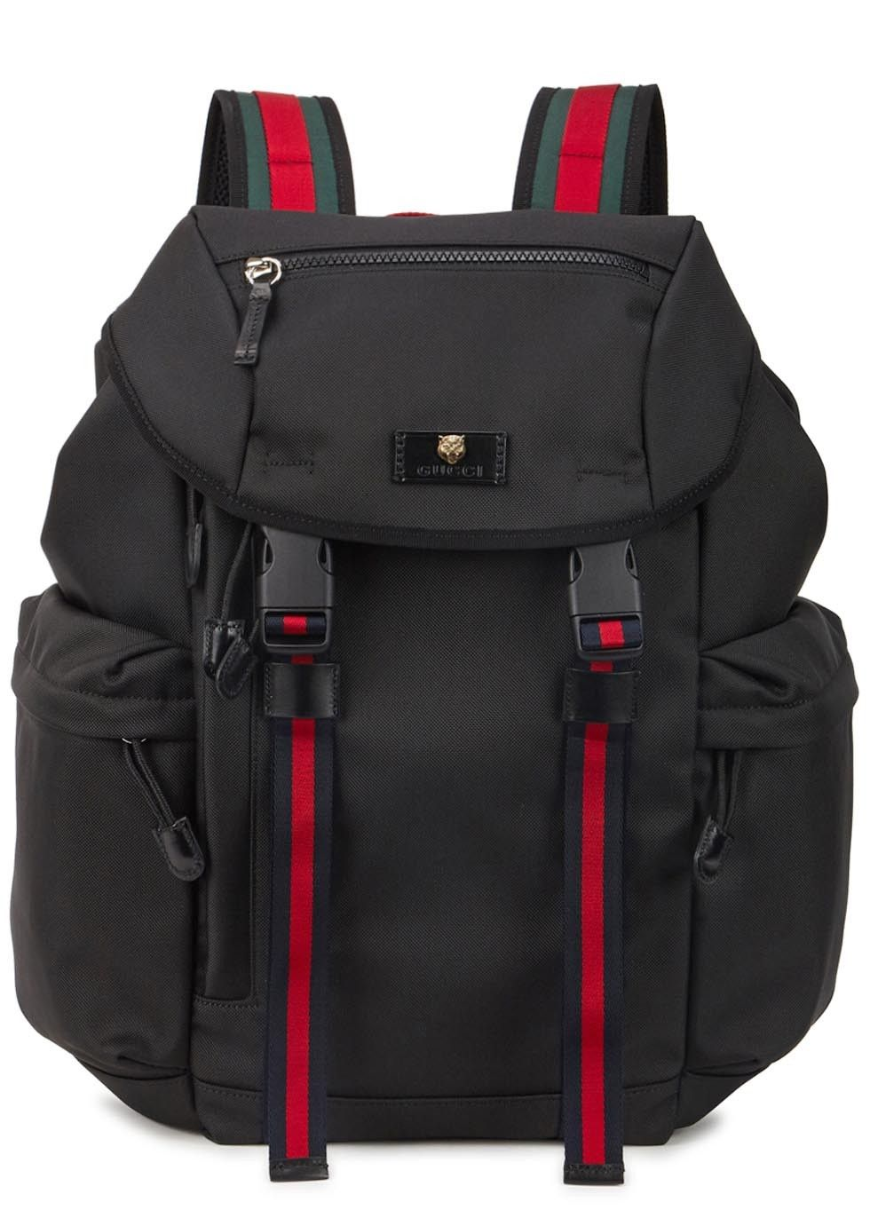 6991faa6ae04 Gucci black canvas backpack
