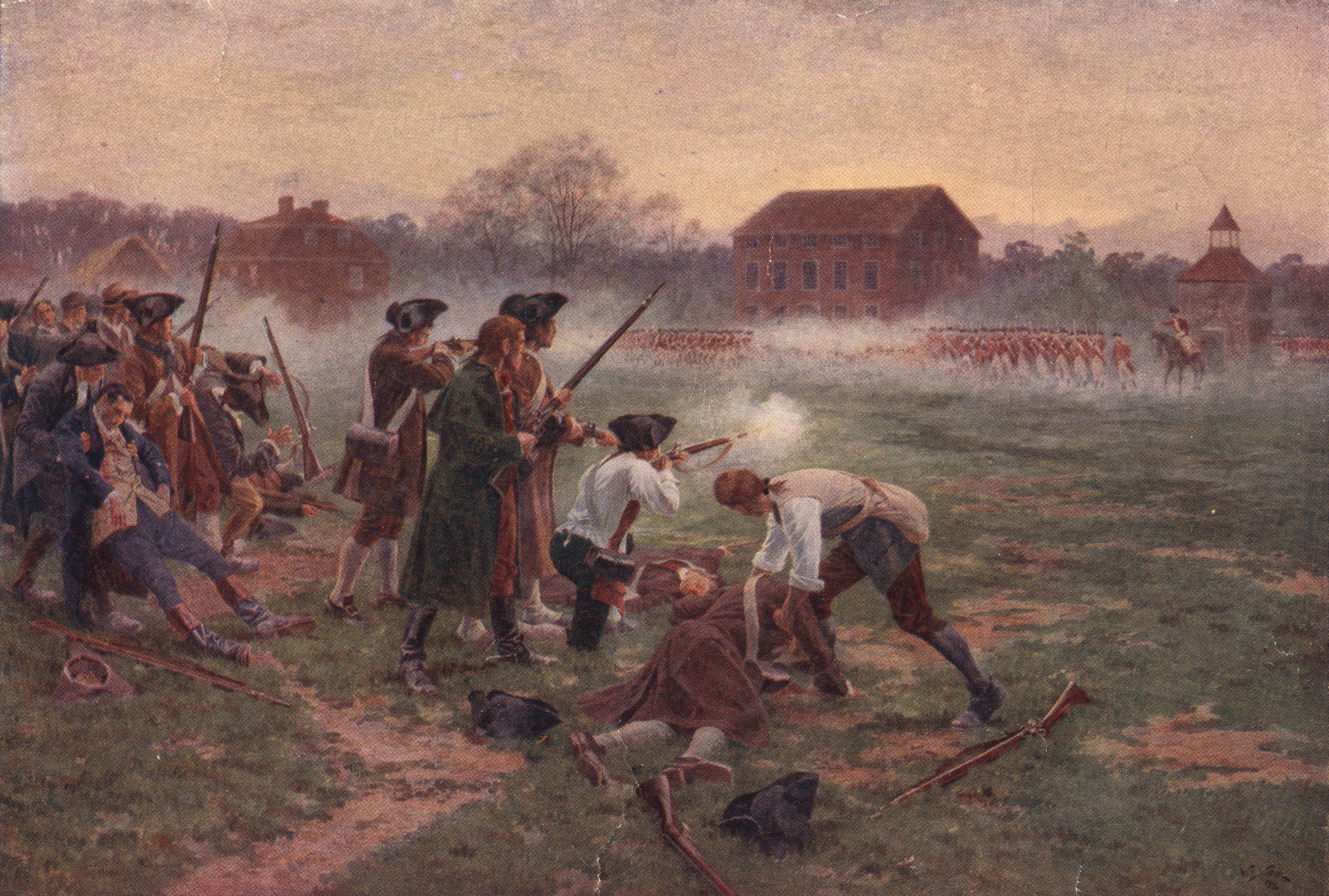 Shot Heard Round The World Later That Day The British Troops Marched Into Concord Hoping To American Revolution American War Of Independence Revolutionary War