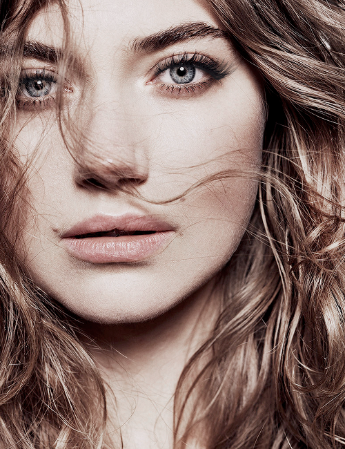 Imogen Poots photographed by Jan Welters for InStyle.